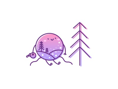 Snowglobe gradient color pink logo purple gradient starship pine tree snowglobe snowboard forest logo character design kawaii illustration flat stars vector illustration kawaii art cartoon illustration cartoon character cartoon cute illustration cuteart