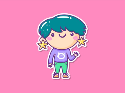 Lia adobe illustrator cc wacom kawaii faces hello bright colors cat stars girl illustration girl character adobe illustrator illustration cartoon vector illustration kawaii art kawaii cartoon character cartoon illustration cute illustration cuteart