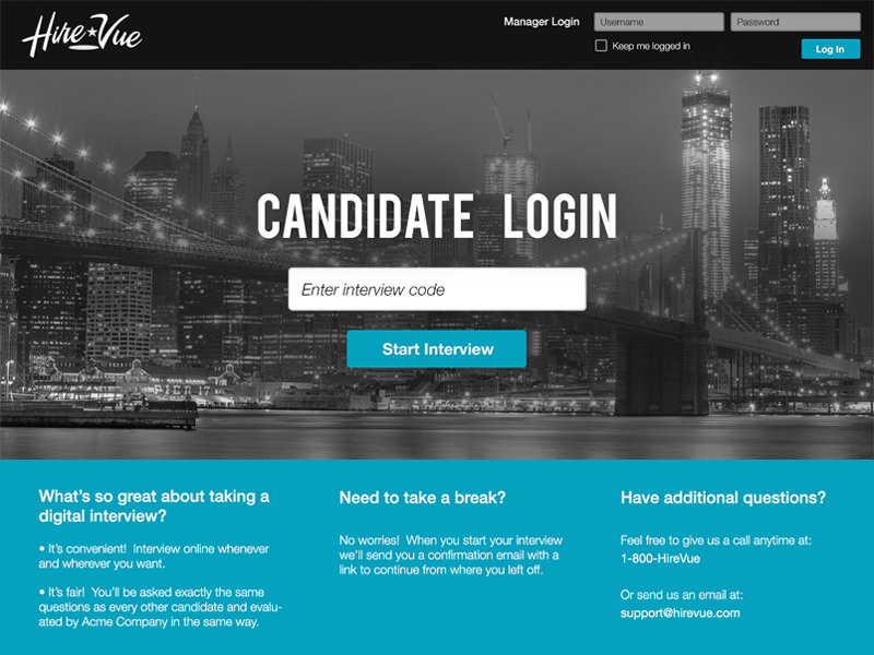 hirevue login page template by jaleh dribbble dribbble