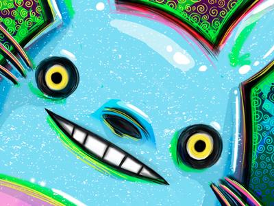 Psychadelic Totoro totoro studio ghibli hayao miyazaki japanese anime fanart