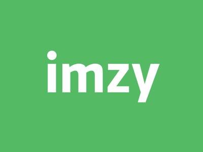 Imzy logo clean serif sans green logo official imzy