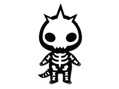 Imzyskellie bones xray halloween skeleton skull mascot dinosaur dino sticker community imzysaurus imzy
