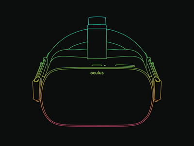Oculus Go lineart gradient virtual reality oculus go vr oculus