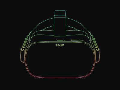 Oculus Go lineart gradient virtual reality oculus go vr oculus