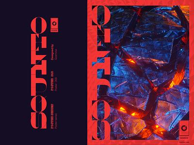 Gosmow - Poster 358 design font type poster art octane typogaphy color poster cinema4d 3d artist 3d art 3d