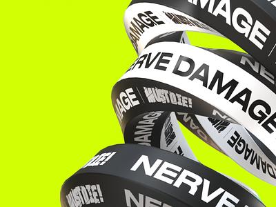 Gosmow - Nerve Damage typeface font color gradient everyday poster art poster 3d artist octane type illustration typography 3d art 3d