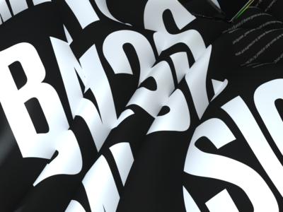 Gosmow - Bass Music font typography typeface black color gradient cinema4d design octane 3d art poster art illustration