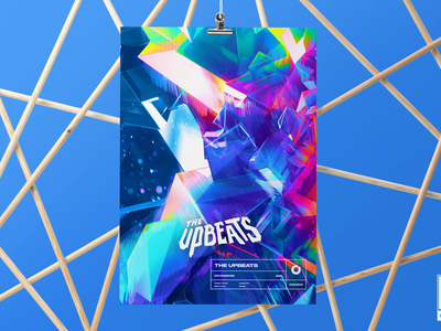 Gosmow - The Upbeats photoshop print poster design music render typography gradient octane design color poster art poster cinema4d 3d art 3d