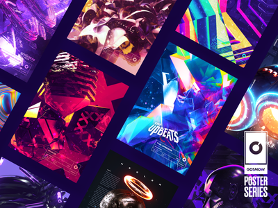 Gosmow - Poster series instagram daily artwork grid octane render everyday typography color gradient poster cinema4d 3d design