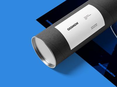 Gosmow - A poster series art direction design type typography render gradient color art poster cinema4d 3d octane