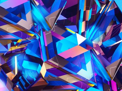 Gosmow - Volors everyday cinema4d illustration render gradient color poster 3d design octane