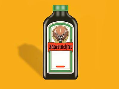 Jägermeister bottle jäger jägermeister bottle design illustrator