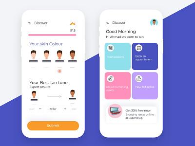 Tanning app app icon design ux ui