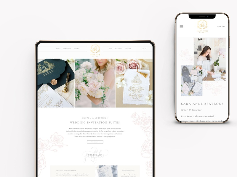 Custom Website for Wedding Paper Designer & Calligrapher