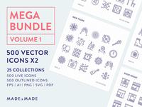 Made By Made | Line Icons – Mega Bundle Volume 1