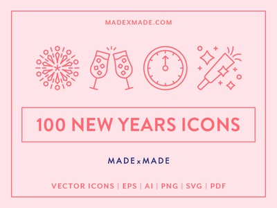Made By Made | Line Icons – New Years Eve