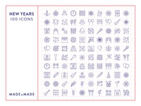 Made By Made   Line Icons – New Years Eve