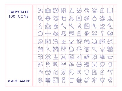 Made By Made | Line Icons – Fairy Tale