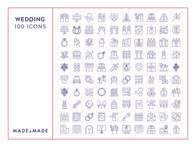 Made By Made | Line Icons – Wedding