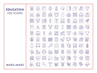 Made By Made | Line Icons – Education