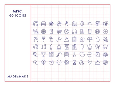 Made By Made   Line Icons – Miscellaneous