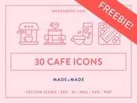 FREEBIE – Made By Made | Line Icons – Cafe