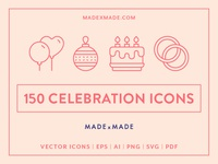 Made By Made | Line Icons – Celebration