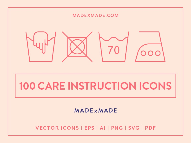 Made By Made | Line Icons – Care Instructions by Made by
