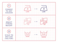 Made By Made | Line Icons – Care Instructions