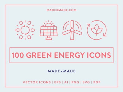 Made By Made   Line Icons – Green Energy