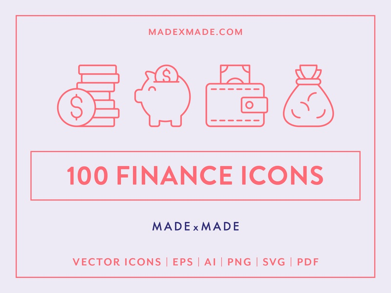 Made By Made | Line Icons – Finance currency exchange wall st investment e-commerce economy banking money finance ux ui infographics symbols illustrations vector icons line icons