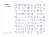 Made By Made   Line Icons – Beach