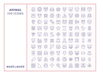 Made By Made | Line Icons – Animals