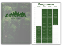 Booklet • Fresh Camp 2016
