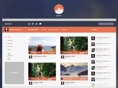 Adventr piotrkwiatkowski ui user ikons icons orange blue web webdesign web design