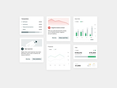 Business dashboard widgets tags list icons icon line graph bar chart pie chart button dotted green minimalistic illustration bars white dashboard statistics graphs cards ui
