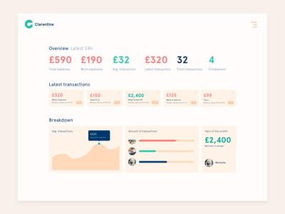 Dashboard Overview beige numbers design web ui dashboard