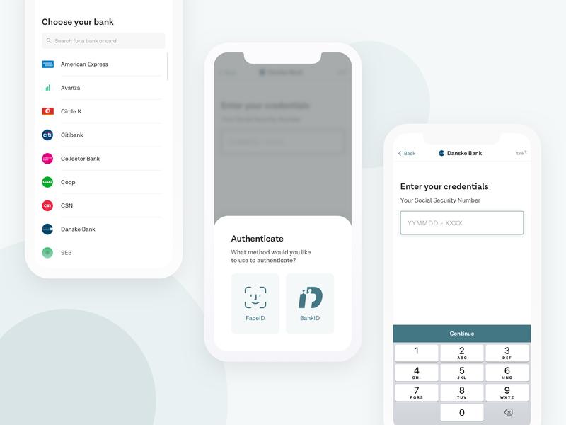 Tink Link minimalistic cards app icons mobile app design ios modal form login ui design mobile app web mobile ui