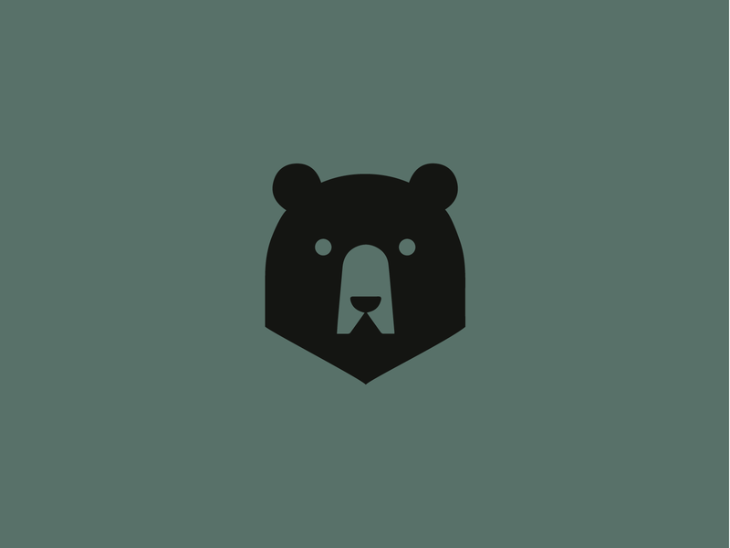 Grizzly Bear art illustrator vector minimal icon branding logo design illustration