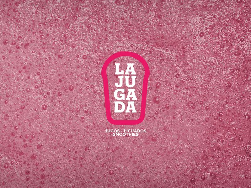La Jugada Logo glass cup logosketch licuado smoothie juice jugo brand identity brand design icon vector illustrator branding logosai logotype logodesign logo