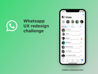 Whatsapp Redesign Challenge (Chat App)