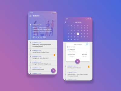 Daily UX Challenge - Zeitplan App