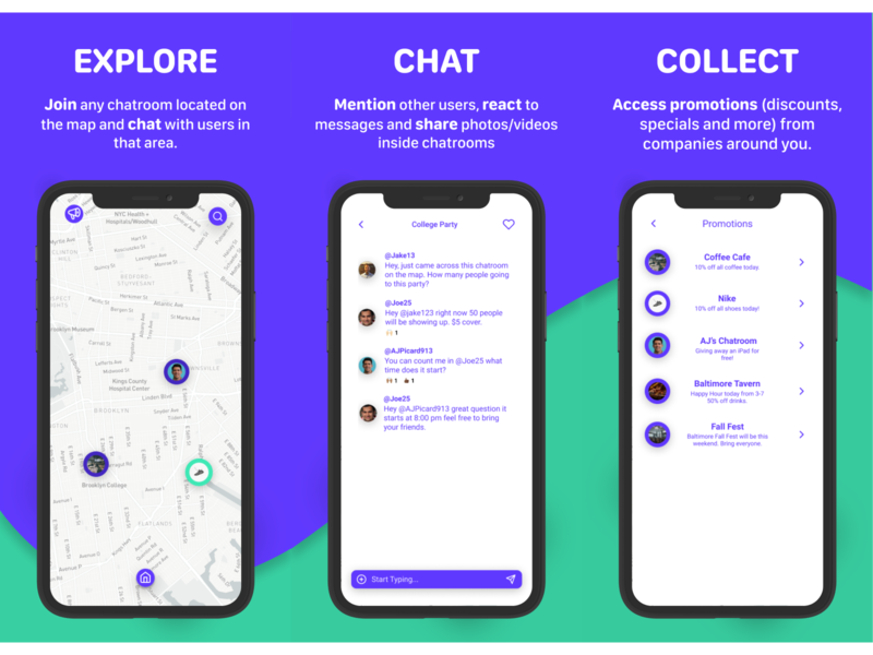 Clava - App Store Page - Mockups app store page app store location based location app brand design branding design branding chatting chat app chat messaging app messaging social networking social networks social media social app social socialmedia social network