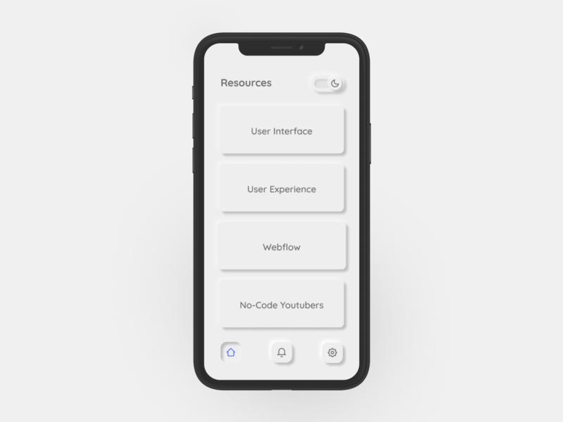 Neumorphism Themed App neumorphic ui designer branding designer mobile app mobile uiux uxdesign ux  ui ux designer uxui ux ui designs ui design ux design