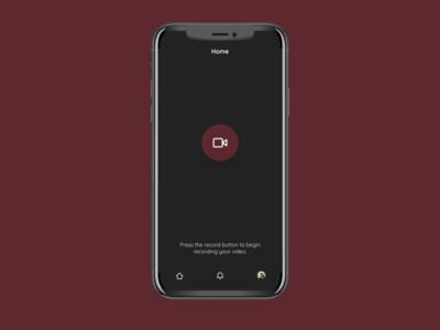 Client Recording App dark mode dark theme dark app dark ui darkmode dark whitespace white simple user interface interface illustrator ui  ux uiux mobile ui branding video app video recording