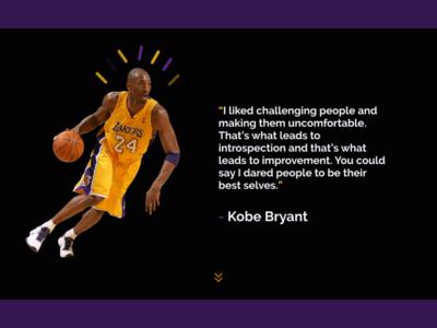 Kobe Bryant Tribute Website basketball nba rip tribute brand nike mamba kobe bryant kobebryant kobe webdesign web design website builder web websites website concept website design website