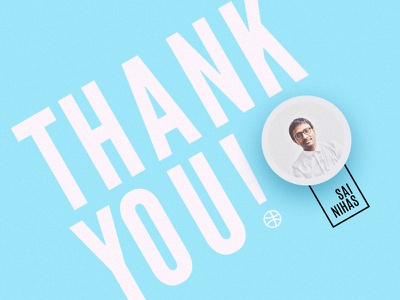 Thank You! thank you dribble invite dribbble debut