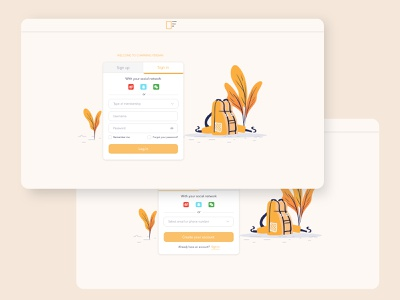Charming Persian Login illustration uiux design user interface design ux branding