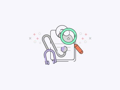 Doctor Finder App doctor doctor app vector line search illustrator icon