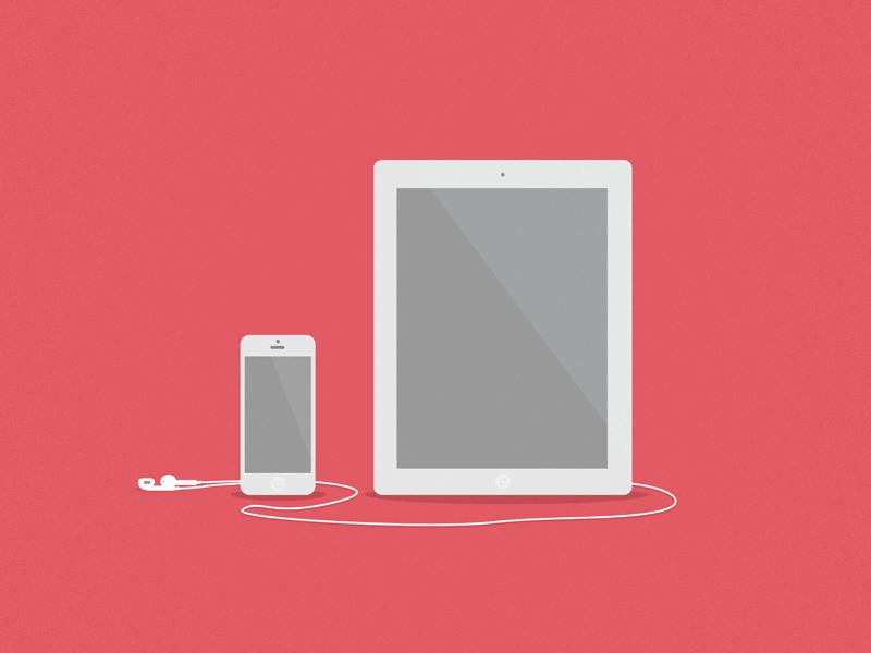 iPhone 5 & iPad 4 minimal iphone ipad apple illustrator clean hyperisland